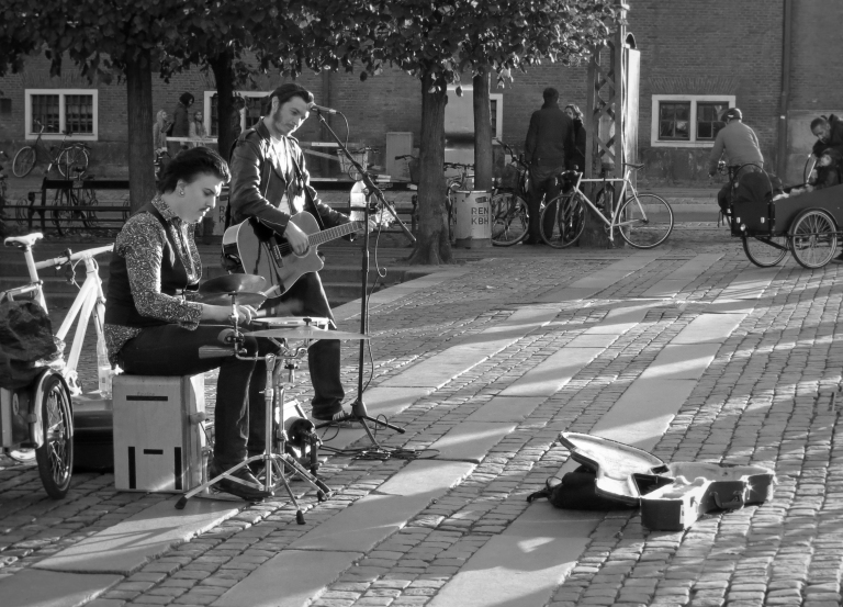 Street musicians are a very frequent site to see while exploring Copenhagen. The instruments and the style of music varies, but the passion is always the same. Their music can be heard filling the streets and alleyways throughout all of Copenhagen's 10 districts.