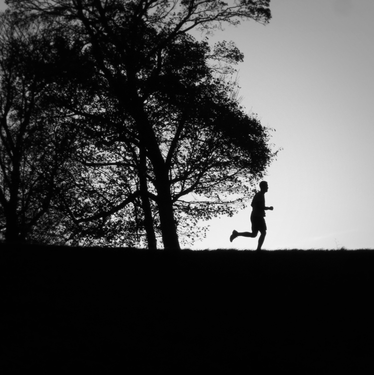 A runner runs along the hilltop of Kastellet, a 17th century star-shaped fortress that once was the Citadel and base for the Danish Army. It now holds a museum, restaurant, and numerous walking trails.